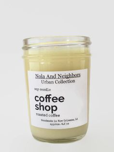 Coffee scented soy candle hand poured in by NolaAndNeighbors