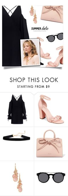 """""""Smokin' Hot: Summer Date Night"""" by sagemae ❤ liked on Polyvore featuring IRO, Avec Les Filles, Mansur Gavriel, Avon and Valentino"""