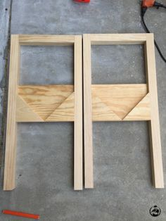 Book Rack Console Table Plans - Step 2
