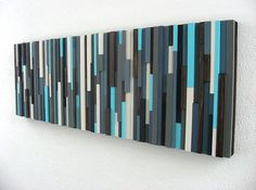 Modern Abstract Art Wood Sculpture by ModernRusticArt on Etsy, $295.00