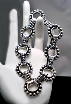 Bracelet   Hector Aguilar. Sterling silver. Vintage Mexican. c. 1940s - 1950s