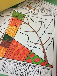 Fall Interactive Coloring Sheets.
