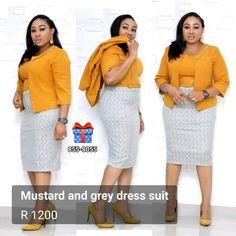 Perfect for office or a smart party Elegance Boutique, Dress Suits, Dresses, Gray Dress, Capri Pants, Elegant, Chic, Grey, Fashion