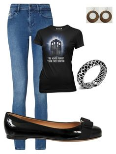 """""""Ootd doctor who"""" by mechefbu on Polyvore featuring Calvin Klein, Salvatore Ferragamo and John Hardy"""