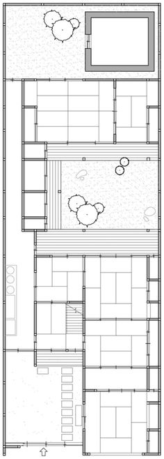 Japanese architecture – room sized determined by the dimensions of tatami mats – Floor plan ~ - architecture house Japanese Home Design, Japanese Style House, Traditional Japanese House, Japanese Interior, Japan Architecture, Architecture Design, Pavilion Architecture, Sustainable Architecture, Residential Architecture