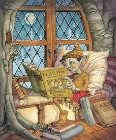 Gnomes do they read? / Qué leen los gnomos? (ilustración de David Hohn)