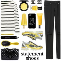How To Wear Chanel Statement Shoes... for @musicfriend1 Outfit Idea 2017 - Fashion Trends Ready To Wear For Plus Size, Curvy Women Over 20, 30, 40, 50