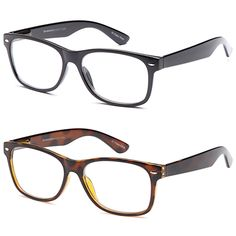 1373f56552 Gamma Ray 2 Pairs Deluxe Classic Style 150 Magnification Reading Glasses  with Spring Hinge Readers for Comfort fit Men and Women     Find out more  about the ...