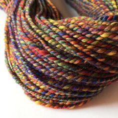 Handspun Yarn Hand Spun Yarn 100% Merino Wool Plied by ArtyThreads