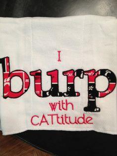 UC Bearcats Burp Cloth. $7.50, via Etsy.