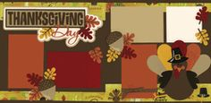 Thanksgiving Day Page Kit  Out on a Limb Scrapbooking