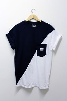 Black n White Cut n Sew Tee