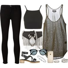 Untitled #470 by ashleighsoutfits on Polyvore featuring Isabel Marant, Topshop, Current/Elliott, Yves Saint Laurent and Forever 21