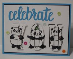 In My Craft Room - Stamping With Glenda: Party Pandas Card Share