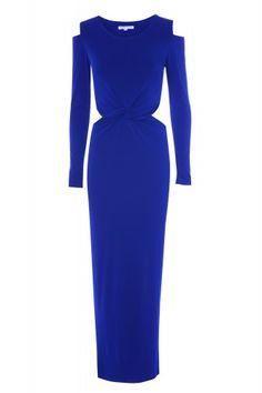 Blue Cut Out Shoulder And Waist Maxi Dress | Glamorous UK