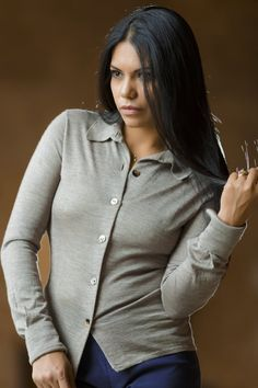 Shirt For Woman Qiviuk & Silk - MEDIUM / NATURAL