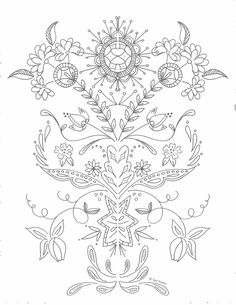 free floral coloring page, printable coloring pages Coloring Pages For Grown Ups, Free Adult Coloring Pages, Disney Coloring Pages, Free Printable Coloring Pages, Coloring Pages For Kids, Free Printable Stickers, Free Printables, Free Planner Pages, Ipad Art