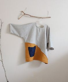 fabriqué sur commande sur eco taille mélange lin et broche lin or automne tuck tunique