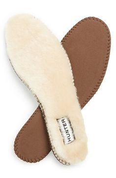 Hunter Genuine Shearling Insoles (Women) available at #Nordstrom Size: 7M
