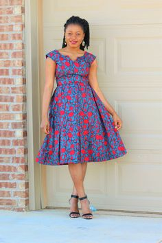 A beautiful statement African Print Ankara Dress Knee length dress ready to wear either with your favorable pair heels * Lined African Fashion Ankara, Latest African Fashion Dresses, African Print Fashion, Short African Dresses, African Print Dresses, Ankara Gown Styles, Ankara Dress, Ankara Gowns, Shweshwe Dresses