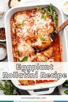 Go all out on tonight's dinner with this Eggplant Rollatini recipe. It's made with a heaping portion of veggies, tons of spices, and three different cheeses. Eat up! Healthy Dinner Recipes, Whole Food Recipes, Free Recipes, Eggplant Rollatini Recipe, Food Dishes, Main Dishes, Italian Diet, Baked Eggplant, Quick Meals