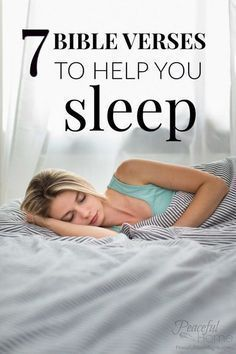 7 Bible Verses to Help You Sleep | Scriptures about Sleep | What does the bible say about sleep? | Bible verses insomnia