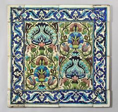 William De Morgan - Persian tiles with border by robmcrorie, via Flickr