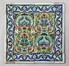 William De Morgan - Persian tiles with border by robmcrorie, via Flickr