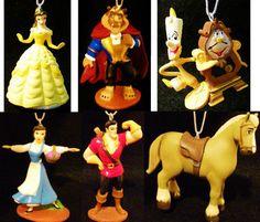 Beauty Beast Belle Gaston Lumiere Philippe Horse Disney PVC Christmas Ornaments | eBay