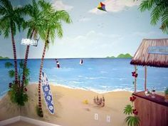 Image detail for -beach mural play room description beach mural tags beach mural wall ...