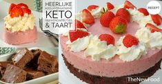 Koolhydraatarme/keto verwenontbijtjes & taart - TheNewFood Go For It, Quiches, Low Carb Keto, New Recipes, Smoothies, Cheesecake, Cakes, Weight, Desserts