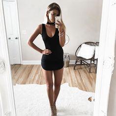 Little black dress ♠️ from @clothesenvy
