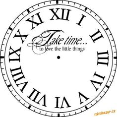 Transfer - Printable - Decoupage Clock Face                                                                                                                                                      More
