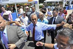 Mayor Rahm Emanuel ate the Taste of Chicago - 2012. Mr. Mayor, get something to eat. You are lookin' a little skinny. (smile)