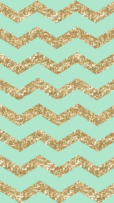 ↑↑TAP AND GET THE FREE APP! Shining	Pattern Zigzag Cute Stylish Girly Gold Glitter Sparkle Bright For Girls Mint Cool HD iPhone 6 Wallpaper