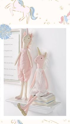 Shop must-have plush dolls for your littles! #mudpiegift #kidstoys #plushdolls #unicorn #unicorntoys #plush #decor #nurserydecor Velvet Shorts, Velvet Leggings, Mud Pie Gifts, Sequin Tunic, Forest Friends, Pink Princess, Plush Dolls, Nursery Decor, Kids Toys