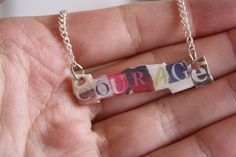 Courage (Glee) Necklace :O MUST! HAVE! NOWWWW!!!!!