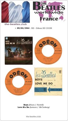 "The Beatles France Single Odeon SO 10108 Boys Love Me Do Vinyl Record 7"""