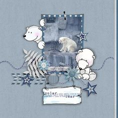 Story Series - Polar Pals Kit The Polar Pals is the third part of our Story series. Snoopy, Scrapbook, Kit, Fictional Characters, Design, Scrapbooking, Fantasy Characters, Guest Books