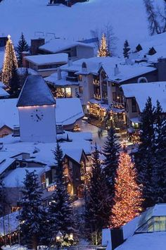 Vail, Colorado I want a winter cabin here. It would stay decorated in Christmas all year long. #HolidayDecor