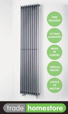 QUINN ADAGIO 1800mm Gun Metal Vertical Radiator - Choice of Widths | eBay