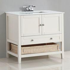 Simpli Home 4AXCVCCW-36 Cape Cod 36 in. Single Bathroom Vanity   from hayneedle.com