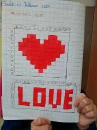 Risultato immagini per coding nella scuola primaria schede pixel art Art Festa, Pixel Art, Decoupage, Coding, Logos, Valentino, Hearts, Google, Tecnologia