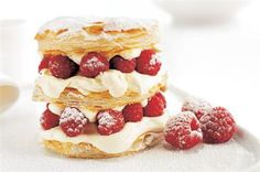 Raspberry mille feuille. My thighs are getting larger just thinking of this. XD