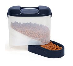 Bergan 5 lb Travel Feeder with Handle Pet Food Storage, Pet Feeder, Pet Travel, Food Grade, Handle, Pets, Connect, Hardware Pulls