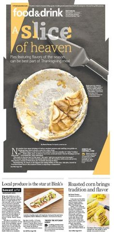 A Slice of Heaven #GraphicDesign #Newspaper #Design