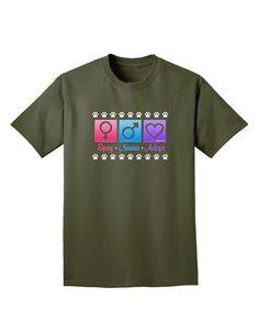 TooLoud Spay Neuter Adopt Adult Dark T-Shirt