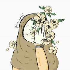 Anime Muslim, Hijab Cartoon, Hijabi Girl, Muslim Girls, Girl Cartoon, Illustration Art, Illustrations, Anime Art, Girly
