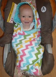 Hooded Flannel and Minky Carseat Blanket for by TheCherryCheetahs, $35.00