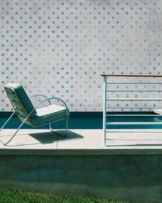 papier peint,geometrique,dedans-dehors,déco,design,murs de couleurs,architecture